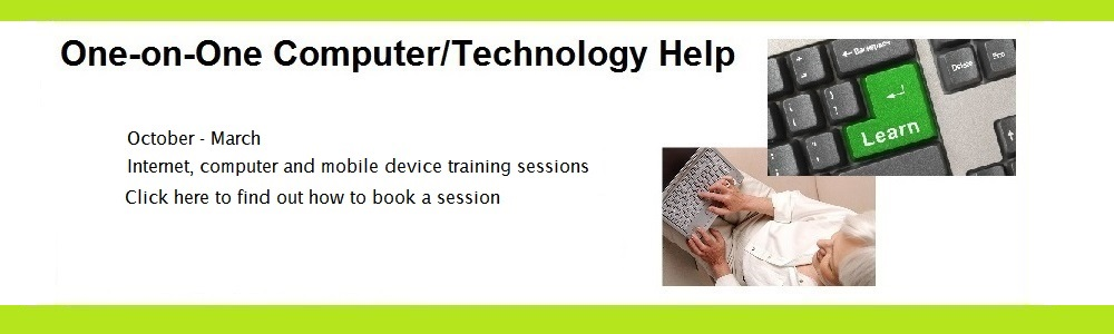 Technology Training...laptops, tablets, smart phones and more.
