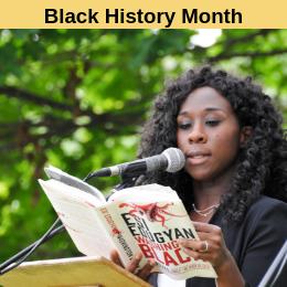 Reading List - Black History Month. Image File: Esi_Edugyan_-_EMWF_2018_-_DanH-7118 Daniel Harasymchuk [CC BY-SA 4.0 (https://creativecommons.org/licenses/by-sa/4.0)][cropped]