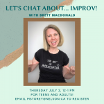 Local Spotlight: Let's Chat With Brett of Be Improv @ Online! See Event Details
